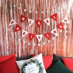 크리스마스 모던파티 장식세트 (로즈골드)