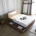 [이노센트] 리브 라이젠 LED 멀티수납형 침대 Q/K