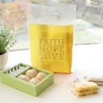 선물포장 비닐백(소)_Faith Hope Love (20매)_옐로우