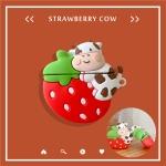 에어팟 1/2/프로 딸기품은 젖소 캐릭터 실리콘 케이스