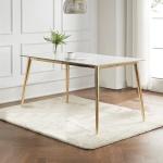 캘리 세라믹 마블 골드 식탁 테이블 1800