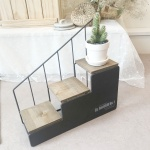 소피아 브라운 계단식 테이블 선반 (미니가든자석)