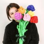 장미꽃다발인형 플라워봉제 성년의날 졸업식선물