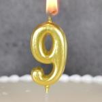 숫자초 골드 9