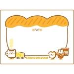 식빵 포스트잇