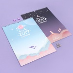 2019 MOONLIGHT WALL CALENDAR