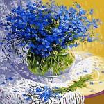 [DIY명화]Q052 파란패랭이꽃 size 50*40cm