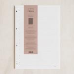 [라 페티트 페퍼티트 프랑세스]La Petite Paperterie Francaise 노트패드&캘린더 줄지 A4 화이트