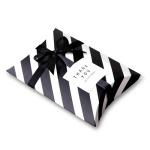 [인디고샵] 모던블랙 스트라이프 반달 상자 소 (2개