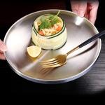[쿠킹스]이중 원형 스텐 접시(23cm)