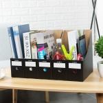 DIY 페이퍼 파일박스 5p세트(블랙)/ 문서보관함