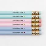 [주문제작]네임연필2B 6자루 육각파스텔