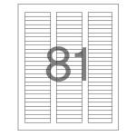 분류표기용 라벨(LQ 3181 20매 81칸 폼텍)