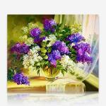 창가의 꽃병 DIY 보석십자수 십자수 비즈세트