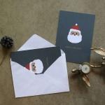 해피산타 크리스마스 카드+엽서 2장 세트