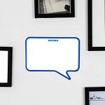 말풍선 스티커 메모보드 Blue 프레임(미니마카 증정)