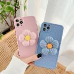 아이폰11 PRO SE2 플라워 니트 그립톡 실리콘 케이스