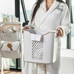 이동식 빨래 세탁물 세탁 통 보관함 바구니 햄퍼 (대)