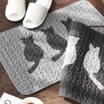 [N365] 모던 고양이 퀼팅 목화솜 욕실매트 60x40