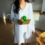 요루면 레몬 원피스 잠옷 순면 파자마 홈웨어