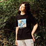 야자수 티셔츠 블랙