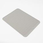 웨이브 실리콘 드라잉 매트(라이트그레이) (40cm)