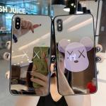 아이폰 곰돌이 캐릭터 미러 강화유리 휴대폰 케이스