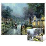 500피스 직소퍼즐 - 비 내리는 거리의 풍경