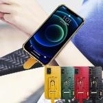 아이폰12 미니 pro max 가죽 핸드 스트랩 밴드 케이스