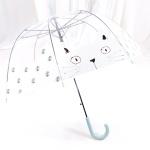TW 고양이 투명 비닐 우산 돔모양 장우산