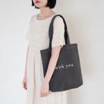 WY Tote bag- Darkgray