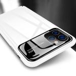아이폰11 프로 맥스 슬림 유광 하드 강화유리 케이스