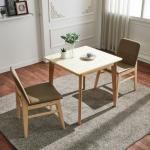 유럽형 고무나무 2인식탁+의자 세트 FN701-5