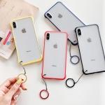 아이폰 컬러 사이드 반투명 하드 핸드폰 케이스 1448
