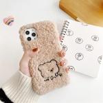 아이폰11 PRO MAX XR XS 8 7 귀여운 곰돌이 털 케이스