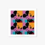 현대작가 포스터 갤러리 액자 111 Andy Warhol Quadrant Mickey Mouse