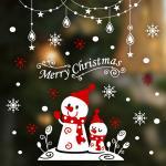 크리스마스 눈꽃 스티커 장식 / 랄랄라 X-mas 눈사람-가랜드