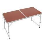 높이조절 접이식 캠핑테이블(브라운)