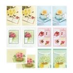 장미 축하카드 FT100A(6종/2세트)