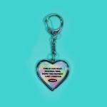 HEART STEEL KEY HOLDER_FOREVER