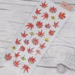 나카바야시 일본풍 돌출 데코 스티커-JF-344 단풍잎