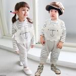 순한양 유아멜빵팬츠와 줄무늬바디슈트(70-90)204295