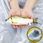 물고기 고양이 캣닢 장난감 용품 20cm (황녹붕어)