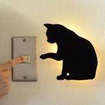 [무료배송]블랙고양이 월데코 LED 조명 램프