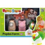 팝보블럭 울타리가있는 동물농장 /돼지, 양, 닭