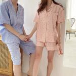 Boat Pajama Set - 커플룩,헤어밴드포함