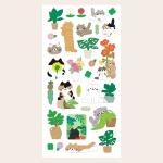 식물과고양이 씰 스티커