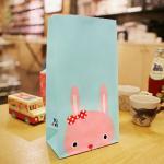 종이봉투 핑크토끼 130x75x240mm (10장)