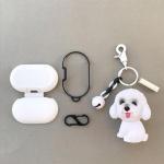 갤럭시버즈 1/2 강아지 키링 실리콘 케이스 GB22 비숑