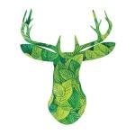 DIY 명화그리기키트 - 나뭇잎 사슴 40x50cm (물감2배, 컬러캔버스, 명화, 동물, 사슴, 나뭇잎)
